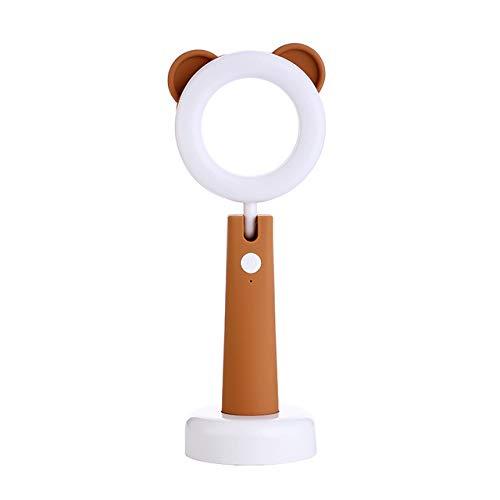 BZR-MY Neue Augenschutzbrille für Kinder Leuchtet Tischleuchten für Haustiere Kinder Lernen Mini-Zusatzleuchten Studenten,Brown