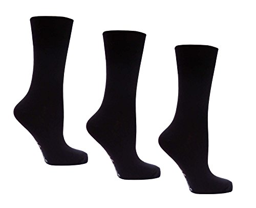 Womens Socks, Gentle grip for comfort, 3 Pairs 4-8 UK, 37-42 EU, Light Hold honeycomb top, ideal elastic free Socks Test