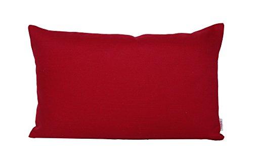beties Farbenspiel Kissenhülle ca. 30x50 cm in interessanter Größen- und Farbauswahl 100% Baumwolle für eine fröhlich Stimmung Uni Farbe (karmin-rot)
