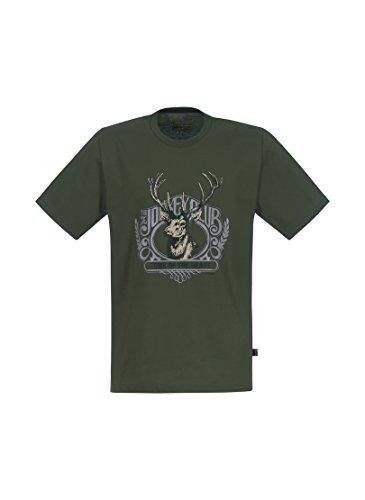 Trigema Herren T-Shirt Hirsch Grün (Khaki 155)