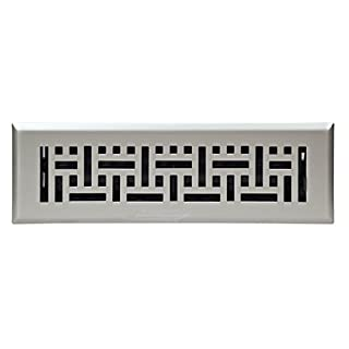 Accord Ventilation AMFRSNB210 Wicker Design Floor Register, Satin Nickel, 2