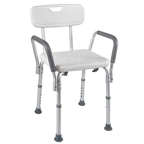 YxnGu Medical Spa Bathtub Shower Lift Chair - Tragbarer Badewannensitz - Verstellbarer Duschbankstuhl mit Armlehnen und rutschfesten Gummispitzen