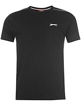 Slazenger Plain para hombre reloj para hombre de manga corta para New en la parte superior y T-camiseta de manga...