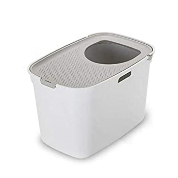 XSWZAQ Toilette for Chat Bassin à litière for Chat Vasque à Poser for Chat Cat Potty Cat Taille: 59 * 39 * 38cm