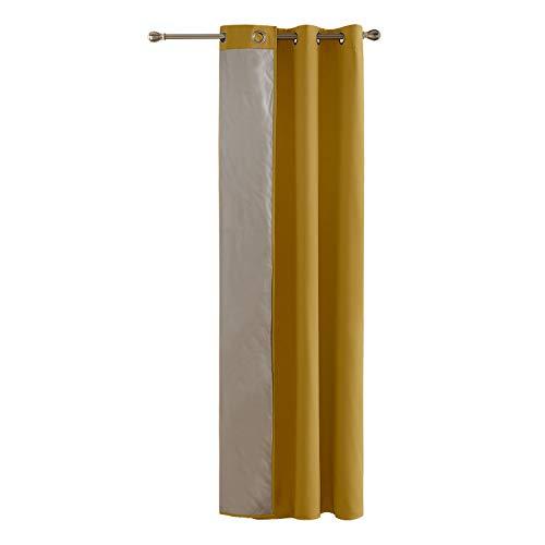 Deconovo tenda termica isolante con occhielli giallo 135x240cm un pannello