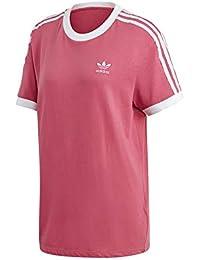 Adidas 3 Stripes tee Camiseta, Mujer, Rojo (gratra), 36