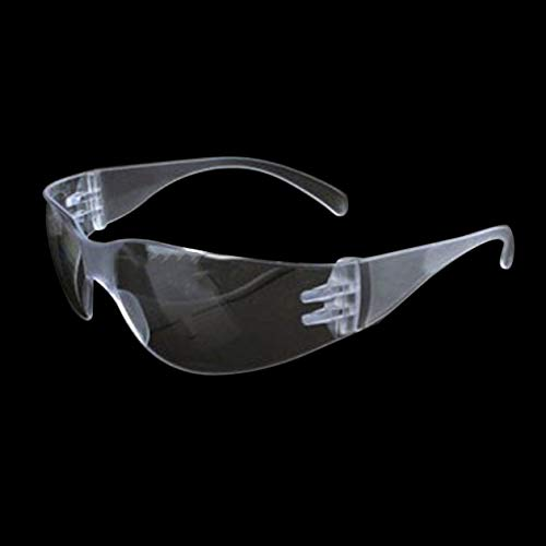 BIYI 1 PC Gafas de seguridad Laboratorio Protección ocular Gafas protectoras médicas Lentes transparentes Gafas de seguridad en el lugar de trabajo Suministros antipolvo (transparentes)