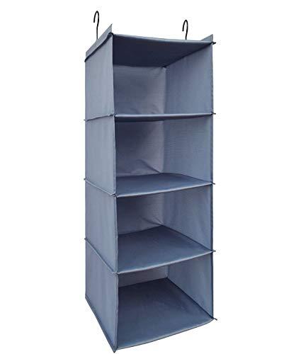 Midsy Ordnungsbox faltbox Kleiderschrank Organizer, 4 Fächer hochwertige Hänge Schrankorganizer...