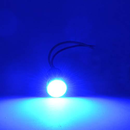 Preisvergleich Produktbild Motorradzubehör Motorrad LED Blinker COB Chip Hohe Helligkeit Motorrad Lampe Multi-Color optional 4pcs Lampen mit Flasher (Color : Blue)