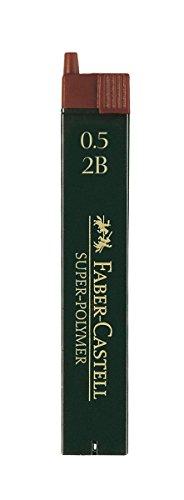 Faber-Castell 120502 - Feinmine Super Polymer, Härtegrad 2B, 0.5 mm, 12 Stück (0.5)