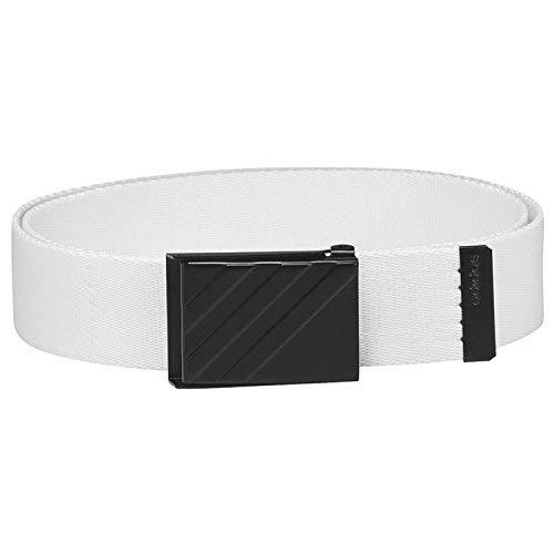 reputable site 1ec6c 9e51d Adidas Golf 2018 Mens 3 Stripe Webbing Belt White One Size