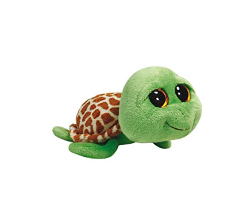 TY Peluche tortuga, color verde/marrón