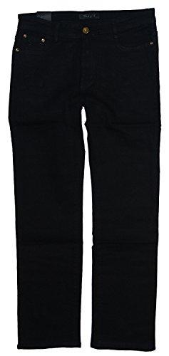 Vidy'l Damen Stretch Jeans Hose gerades Bein LY-517 (Gr.44 W34, schwarz 517 (mit Steinchen)) (Jeans 517)