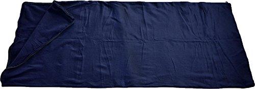 normani Fleece Schlafsack - 190 x 75 cm - 200 g/m² - auch als Inlett verwendbar Farbe Navy -