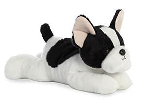 Aurora Flopsies, Bulldog francés, Suave, 31574, 12 Pulgadas, Juguete para Perros para niños, Blanco y Negro
