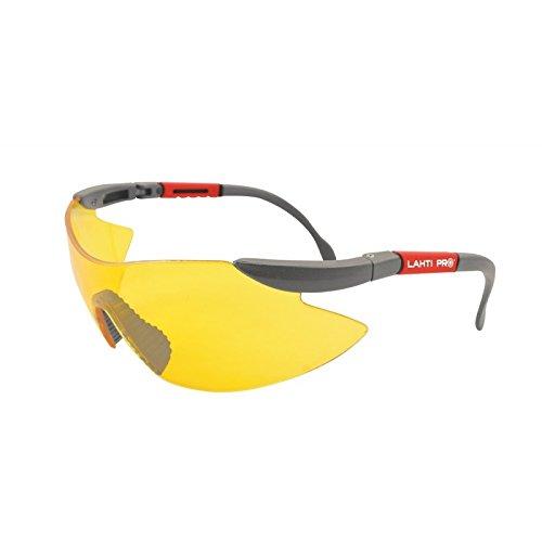 Arbeitsschutzbrille LAHTI PRO 46039 Gelb UV F1 Schutzbrille Sicherheitsbrille Arbeitsbrille