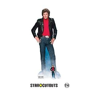 Star Cutouts SC1381 Michael David Hasselhoff Ritter Reiter in Lebensgröße, inklusive Mini-Aufsteller für 80er-Jahre-Partys, Fans und Veranstaltungen, 190 cm hoch, Mehrfarbig, Einheitsgröße