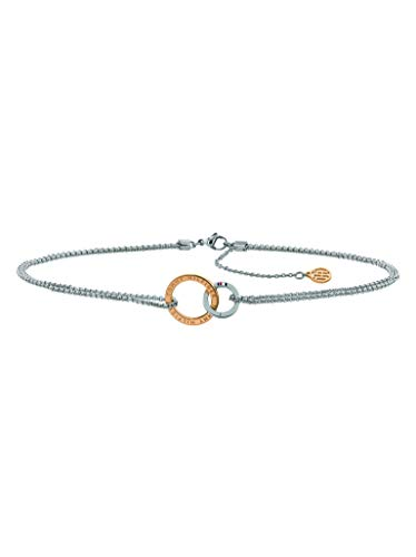 Tommy Hilfiger Casual Core Damen Halskette Edelstahl Silber/Rosévergoldet 38 - 41,5 cm
