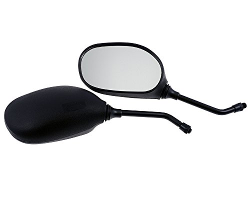 Spiegel universal Motorrad, Quad, schwarz, 10 mm Rechtsgewinde, Paar
