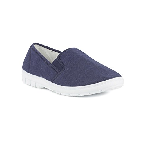 hobos-mens-twin-gusset-canvas-shoe-in-blue-size-8-blue