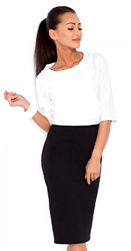 Zeta Ville - Deux pièces coordonné set robe top détachable - tall femme - 612z Blanc