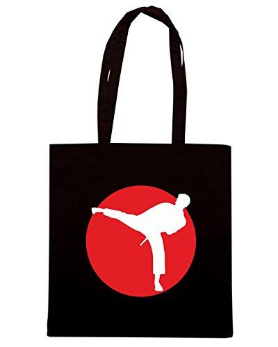 T-Shirtshock - Borsa Shopping TAM0128 martial artist dark tshirt Nero