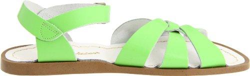 Salt Water Sandals Original Kids White Leather Sandals Lindgrün
