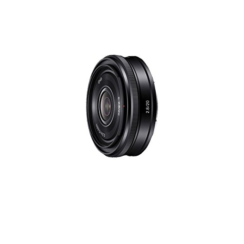 Sony SEL-20F28 Weitwinkel-Objektiv (Festbrennweite, 20 mm, F2.8, APS-C, geeignet für A6000, A5100, A5000 und Nex Serien, E-Mount) schwarz