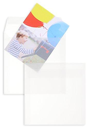 Trasparente Buste con strisce Peel-Off Premium | 160 x 160 mm Transparent-Weiß