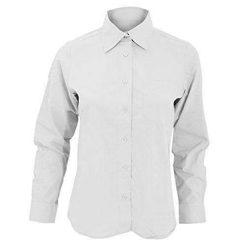 SOLS Executive Damen Arbeitsbluse / Bluse, Langarm Weiß