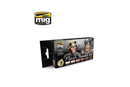 AMMO Munition mig-7168Flesh Tones Acrylfarben-Set, Mehrfarbig -