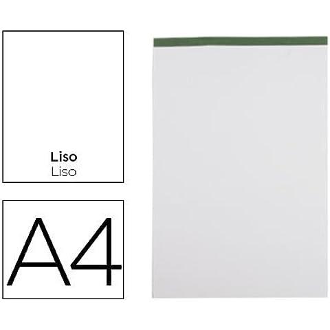 Liderpapel - Bloc notas liso a4 80 hojas 60 g/m2 perforado sin tapa (5 unidades)