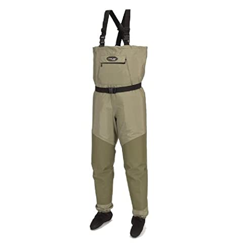 Frogg Toggs Hellbender Microfiber Breathable Stockingfoot Wader, Medium, New Sage by Frogg Toggs