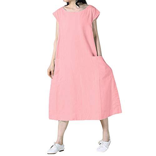 Sommerkleid Art- und Weisefrauen Sommer beiläufiges festes kurzes Hülsen-Oansatz einfaches Strand-Kleid Swing T Shirt Kleid - Frauen Kleid Shirt Minze