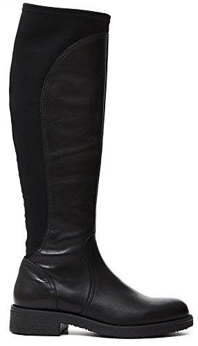 Stivale Cafè Noir HE101 scarpe donna in pelle e lycra 39
