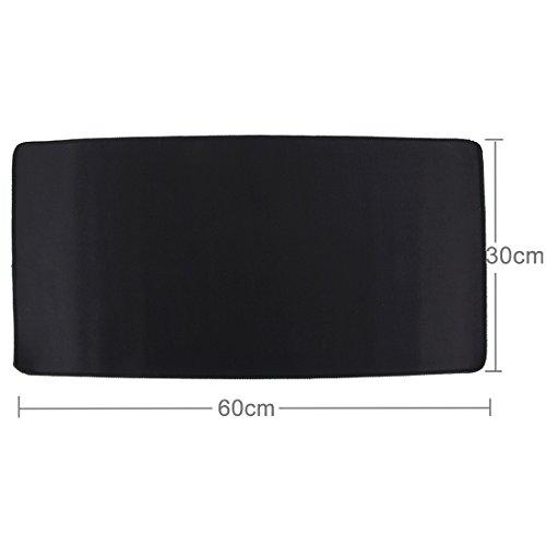 subtel XXL Mauspad, 60 x 30 cm, schwarz, Black, als Schreibtischunterlage für PC, Computer, Laptop - z. B. für Gaming, Grafikdesign | Mausmatte Mouse mat Tastatur Unterlage -