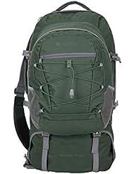 Mountain Warehouse Traveller Rucksack - 60 + 20 Liter - Abnehmbarer Tagesrucksack, strapazierfähig, mehrere Fächer mit Regenabdeckung - Für Reisen, Wandern, Camping, Frühling