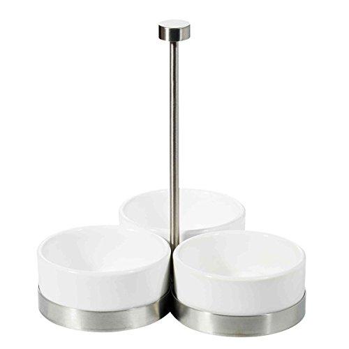 ASA Selection Apero Serviteur 3 Coupelles Porcelaine