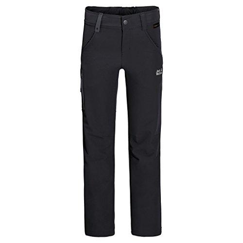 Jack Wolfskin Kinder Activate Pants Kids Wasserabweisend Elastisch Atmungsaktiv Windabweisend Outdoor Softshell Hose, Black, 140