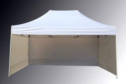 Bastionshop Marktzelt Expresszelt 3x4,5m Marktstand Faltzelt Messestand Pavillion Gazebo, Wasserdicht und mit UV-Schutz (Beige)