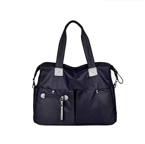 Paket XINGUANG Nylon Canvas Herren Tasche Business Casual Handschellen Gepäcktasche Reisetasche Handschlaufe Schulter Umhängetasche Umhängetasche (Farbe : SCHWARZ, größe : 34 * 15 * 30CM) -