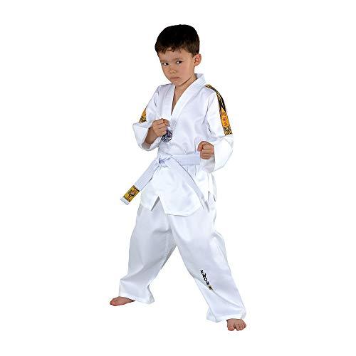 Taekwondoanzug Tiger von KWON, weiß, 551005, Gr.140