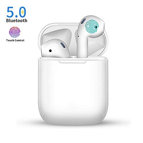 Bluetooth-Kopfhörer Kabellose Ohrhörer Schnurlose Stereo-Sport-Headsets Kompatibel mit iPhone Xmas/XR/X / 8/7/6 / 6s Plus und Samsung Galaxy S7 S8 S9 Plus Android Huawei XIAOMI-Weiß (Bluetooth-kopfhörer Für Iphone)
