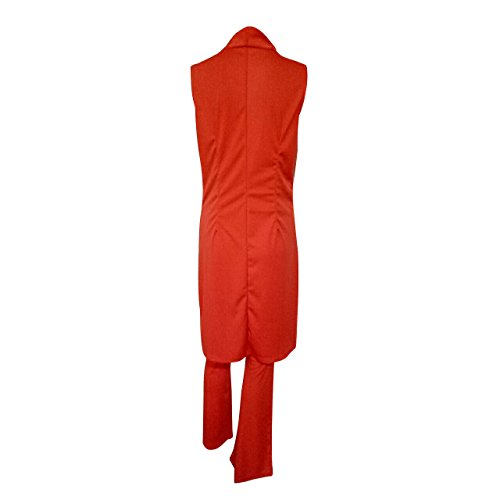 SHISHANG Frauen-zweiteilige Mode Standard hohe Elastizität V-Ausschnitt Sommerfrauen zweiteiliger Anzug und granatapfelrot Red