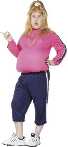 Smiffys Little Britain Vicky Pollard Kostüm mit Jacke und Hose, Sorte: Striped Stuffer