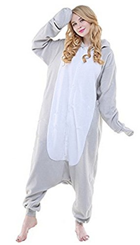 r Cartoon Einhorn Pyjama Overall Kostüm Sleepsuit Cosplay Animal Sleepwear für Kinder / Erwachsene (Medium, Sea Lions) (Lion Halloween-kostüm)