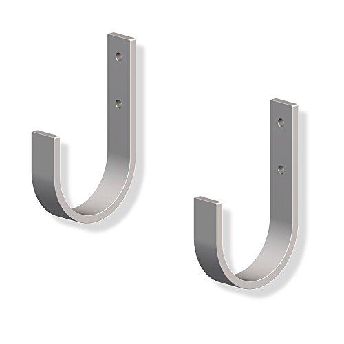 10 Stück – GedoTec® Wandhaken zum Schrauben Unihaken Allzweckhaken 70 x 110 mm | Metallhaken Stahl verzinkt | gebogen mit 120 kg Tragkraft | Universal-Haken in verstärkter Ausführung | Markenqualität für Ihren Wohnbereich