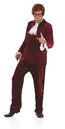 1960s Jahre 1970s Jahre Austin Powers Gigolo Rot Herren Maskenkostüm - L (UK 42-44)