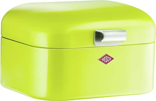 Wesco 235 001 Mini Grandy Brotkasten lemongrün 18 x 17 x 12cm (L/B/H), Edelstahl, Limegreen,