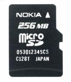 Nokia Speicherkarte 256 MB mikroSD Card MU-27 3109 Classic; 3110 Cla